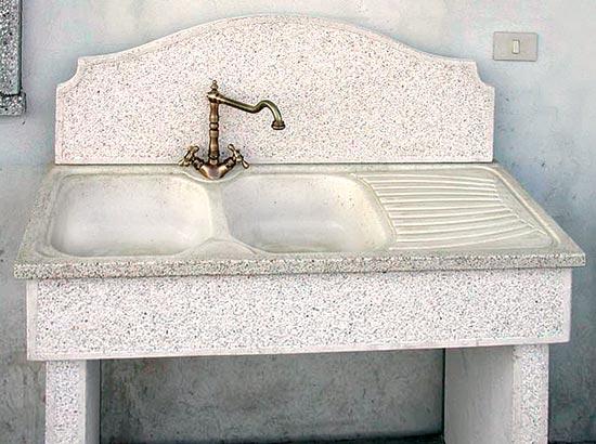 Lavello In Cemento Per Esterni Lavandino O Acquaio Da Giardino In